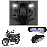 #5: Vheelocityin 55W Bar (set of 2) Auxillary Lamps FogLamp Halogen Light for ALL Car and Bikes For Hero Motocorp Passion Pro
