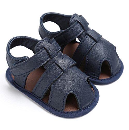 Chaussures bébé garçon Auxma Sandales bébé garçons Chaussures solaires antidérapantes Sneaker Pour 3-6 6-12 12-18 mois Bleu