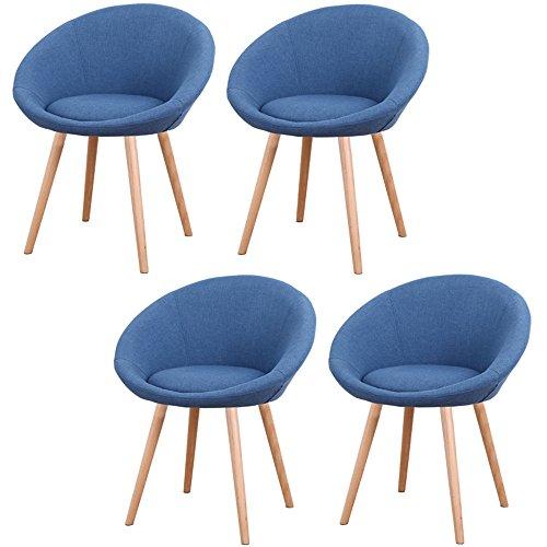 MCTECH 4x Esszimmerstühle Besucher-Stuhl Esszimmerstuhl Wohnzimmerstuhl Stuhlgruppe...