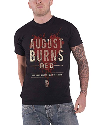 August Burns Red T Shirt Hearts Filled Band Logo Nue Offiziell Herren (August Red-shirts Burns)