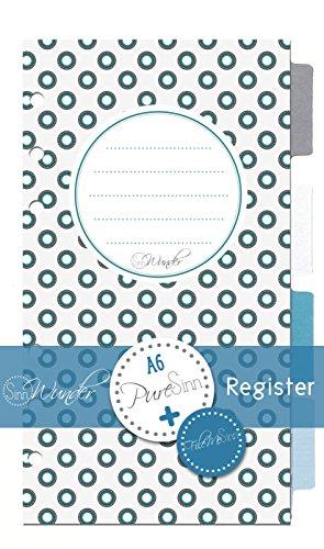 SinnWunder Register Set für Kalender Design PureSinn Format Personal DIN A6