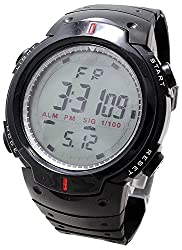 Reiz Sports Digital Black Dial Watch With Stopwatch, Alarm For Men & Boys (Black)