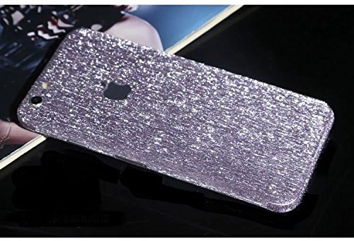 FAS1Neue Version Meteor Dusche Kristall Diamant Sparkling Body Bling Glitzer Aufkleber Skin Film Case für Apple iPhone 6/6S 11,9cm, schwarz, Horizontal Stripe Style violett