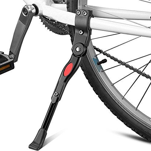 Fahrradständer, Verstellbarer Universal-Fahrradständer mit Anti-Rutsch Gummi Fuß Aluminium Legierung für Mountainbike, Rennrad und andere Fahrräder (Schwarz)