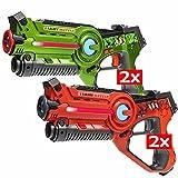 Light Battle 4 Active Laser Tag spielzeugpistole für Kinder: 2X laserpistole grün und 2X lasertag Pistole orange - LBAP10412D