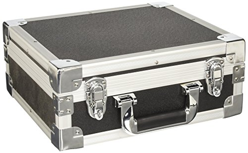 Aluminum Hard Case, Black, 13 x 11 x 5.1 Inches by SRA Cases ()