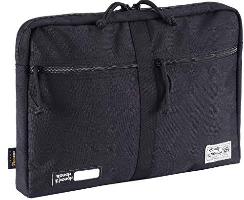 Rough Enough portadocumenti multifunzione 33,8cm computer portatile di tasca con cerniera organizzatore (nero)