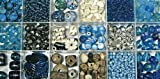 Rayher Perlas de Cristal de Caja, de Colores y Tamaños Mix, Box 240g, Turquesa