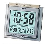 CASIO DQ-750-8ER - Reloj despertador (digital, cuarzo, alarma, termómetro y luz potente)