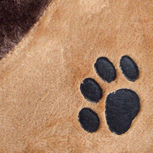 LovePet Kuschelhöle Chou Chou, große Kuschelhöhle für Katzen und kleine Hunde,41 x 42 x 26 cm, Braun - 4