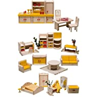 Rülke Holzspielzeug 23611 - Set mobili per casa delle bambole Filius