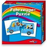 Noris Spiele 608985663 - Fahrzeuge Puzzle, Reise- und Mitbringspiel