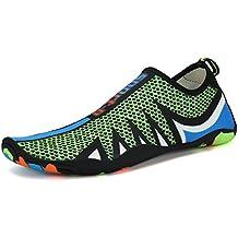 Largeshop Zapatos de Playa Mujer Zapatos de Agua Respirable Calzado Hombres Buceo Surf Yoga Zapatillas de natación Descalzos Deportes Acuáticos