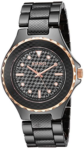 ROBERTO BIANCI WATCHES Women's 'Casaria' Quartz Ceramic Casual Watch, Color:Black (Model: RB2800)