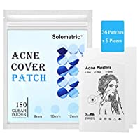 ‏‪Acne Absorbing Cover Patch Hydrocolloid, Acne Pimple Patch Spot SkinTreatment (180 ROUND PATCHES) for Face and Care Dressing‬‏