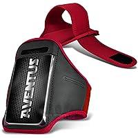 Aventus HTC Desire 540 Custodia (Rosso) Armband Completamente Regolabile Fascia da Braccia Portacellulare Leggera per la Corsa, Passeggiate, Ciclismo, Ginnastica e Altri Sport