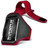 Aventus Alcatel Pop 4s (Rot) Voll einstellbare Leicht Hulle Armband-Halter-Kasten-Abdeckung Running, Walking, Radfahren, Fitnessraum und andere Sportarten