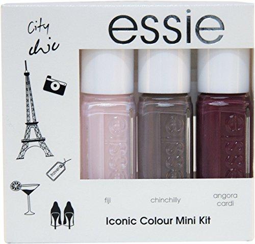 Essie Nagellack Iconic Colour Summer Vibes–3Stück Packung–insgesamt: 3Nagellacke (Nagellack Essie Set)