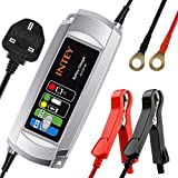 INTEY Car Battery Charger 5A 6V/12V, Portable Motorcycle Battery Charger for Lead Acid