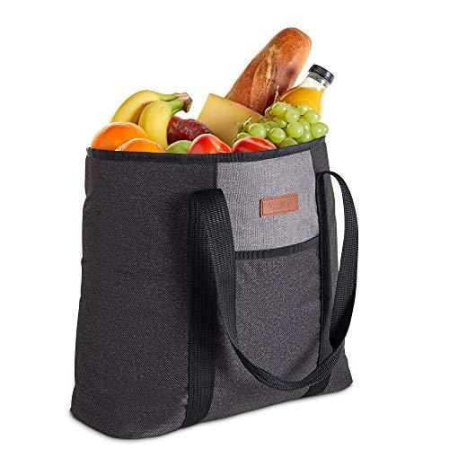 VonShef 22 L Kühltasche - weich isolierte Picknick-Kühltasche - ideal für Outdoor, Lebensmittel, Mittagessen, Strand und Camping (Strand Outdoor-kühltasche Picknick)