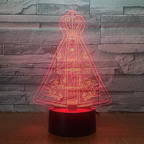 wangZJ 3d Visuelle Illusion Lampe/magisches Zelt Nachtlicht/led Nachtlichter / 7 Farbwechsel Nachtlichter/kinder Halloween Geschenk/touch -