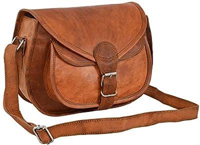 "Gusti Cuir nature ""Evelyn"" sacoche cuir petite besace cabas en cuir vintage sac en cuir véritable naturel Sac bandoulière iPad mini Tablettes 7,9"" rétro sac mixte adulte marron K54b"