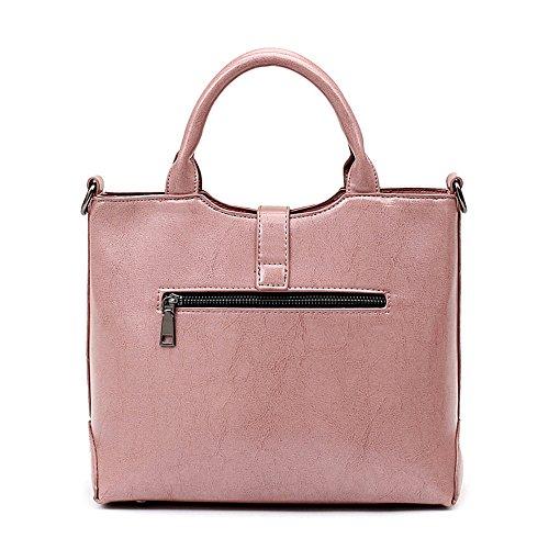 Meoaeo Borsa Borsetta Estate Nuovo Minimalista Retrò Ladies Handbag Marrone Pink