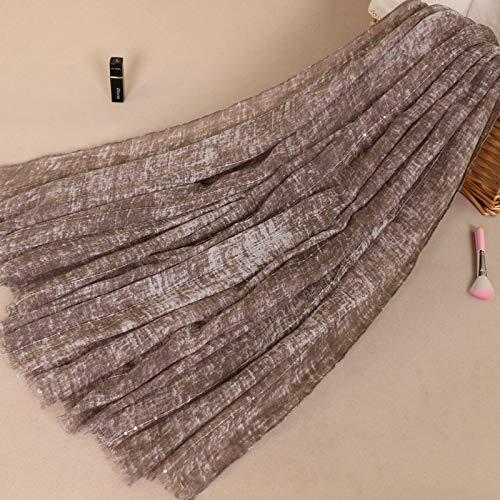 Tie-dye-seide-schal (Hmeili Schal Monochrome Tie Dye Lätzchen Damenmode Baumwolle Pailletten Elegante Damen Schal Bs495)