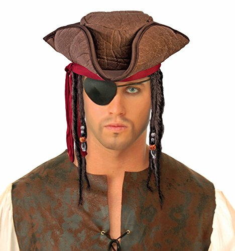 Forum Novelties, Inc Pirate Hat with Dreads (Dreads Hats)