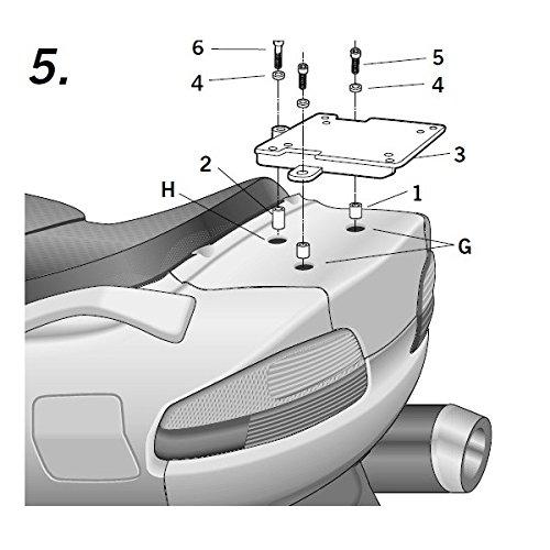 #Suzuki 650burgman-04/15-support Top Case shad-sobr62st#
