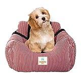 Bo & Chao Dog Car Seat Travel Carrier Pet Travel Safety Car Seat Pet Booster posti Letto per Cani per Auto con Tasca portaoggetti, Lavabile Cane seggiolino Auto