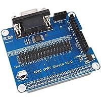 Elenxs Kit de expansión Serie Junta 3B 2B B + para la Frambuesa Pi GPIO UART Shie con indicador de Encendido de la lámpara