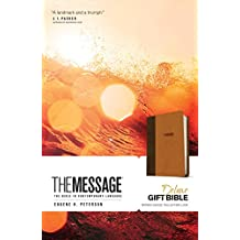 The Message: Brown / Saddle Tan, Leather-Look, The Bible in Contemporary Language