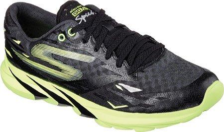 Skechers Go Meb Speed 3, Chaussures de course homme Noir/vert