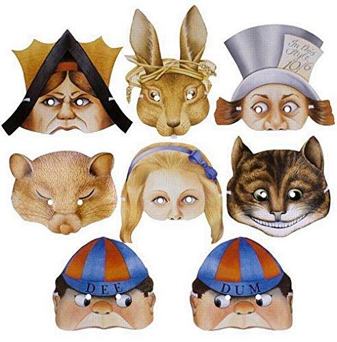 (Verschiedene Alice im Wunderland Masken - Packung mit 8)