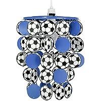 MiniSun - Paralume blu per lampada a sospensione con lo stile calcio per la camera dei ragazzi o del bebè