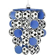Pantalla de Lámpara Infantil de Techo MiniSun con Balones de Fútbol en Azul
