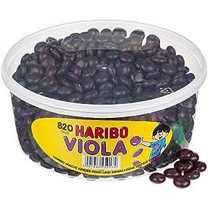 Haribo Viola, Dragées Gélifiés Goût Violette, 820 Pièces, Boîte de 1148 gr