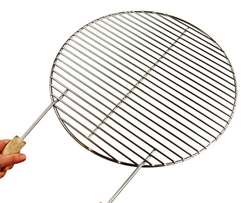 Ø 64,5cm griglia in acciaio inox + 2griffe. stab zu stab solo 12mm. per barbecue sferico 656667weber adatto, 4mm, diametro grill, ruggine, griglia tonda, rotondo