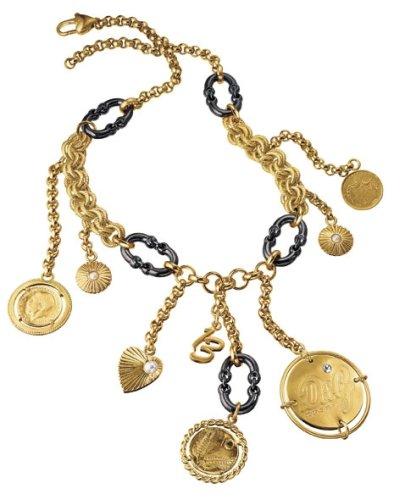 n-Halskette Token Edelstahl vergoldet 60cm DJ0479 ()