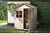 weka Holzbau GmbH weka Garten-/Terrassenschrank 357 Gr.2, natur, Satteldach, 14 mm, DT