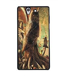 PRINTSWAG JUNGLE OWL Designer Back Cover Case for SONY XPERIA Z