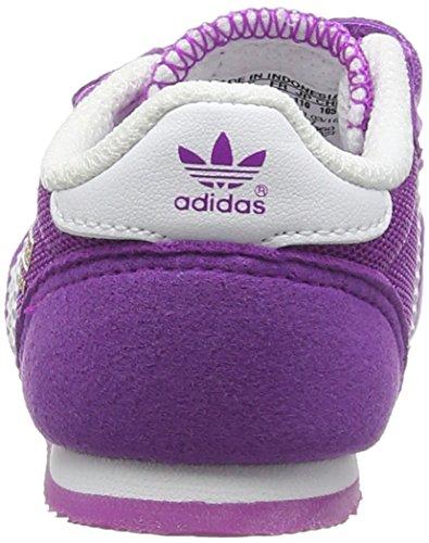 adidas Dragon Cf I, Baskets Basses Mixte Bébé Violet (Shock Purple/Ftwr White/Shock Purple)