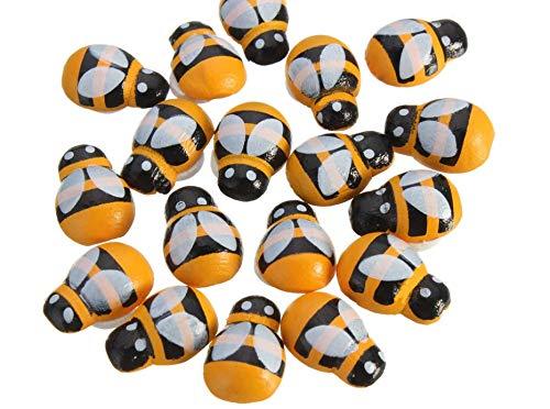 Krisah® 50PCS/Lot Miniature Mini Bees Wall Sticker Ladybird Fridge Magnet Cute Home Decals Kids Scrap Booking Toys Self-Adhesive