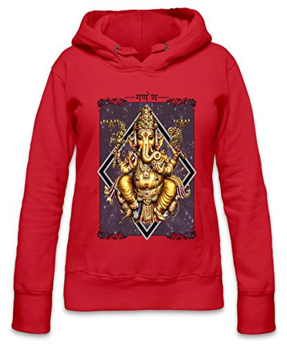 Colourful Ganesha Womens Hoodie Medium