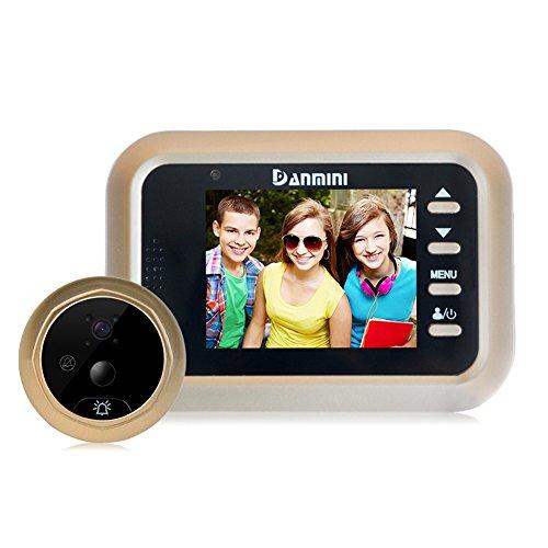 Domybest 2.4 pulgadas Mirilla de la Puerta del Visor con la Pantalla LCD 2.0MP Timbre de la cámara, Fácil y práctica