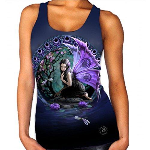 Weißes Ambiente Ist Die Kunst (Wild Star Hearts Aparrel Naiad Weste für Frauen Official Anne Stokes Merchandise)