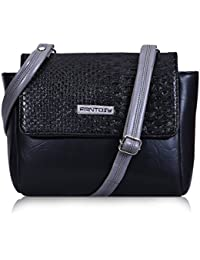 Fantosy Black And Grey Two Side Women Slingbag (FNSB-204) (Black And Grey)