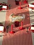 Discount Mariage - Chemin de table elegance vichy rouge