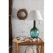 gie el. lgh0071a + to D, lámpara de mesa de cristal, 60W, E27, turquesa 65x 40x 40cm